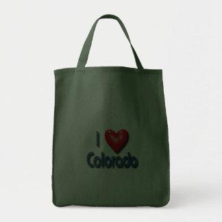 I Love Colorado Tote Bags