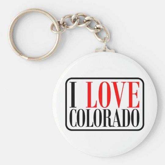 I Love Colorado Design Keychain