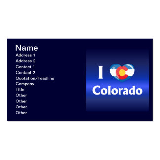 I love Colorado Double-Sided Standard Business Cards (Pack Of 100)