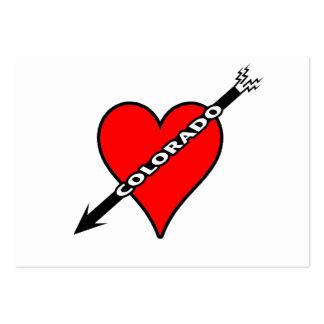 I Love Colorado Heart Business Card Template