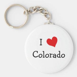 I Love Colorado Basic Round Button Keychain