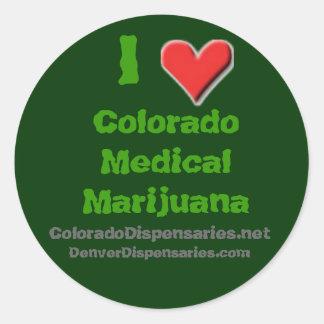 I Love Colorado Medical Marijuana Classic Round Sticker