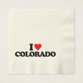 I LOVE COLORADO PAPER NAPKIN