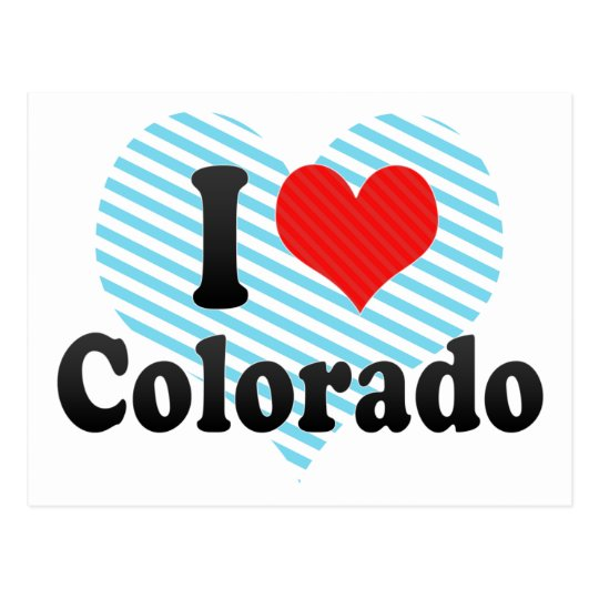 I Love  Colorado Postcard