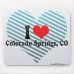 I Love Colorado Springs, CO Mouse Pad