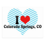 I Love Colorado Springs, CO Postcard