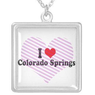 I Love Colorado Springs, United States Custom Necklace