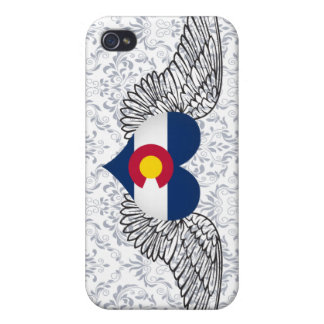 I Love Colorado -wings Case For iPhone 4