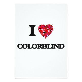 I love Colorblind 3.5x5 Paper Invitation Card