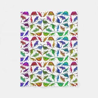 I Love Colorful Dinosaurs Fleece Blanket