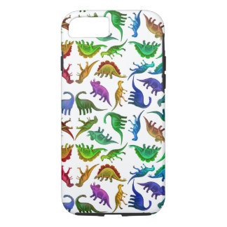 I Love Colorful Dinosaurs iPhone 7 Case
