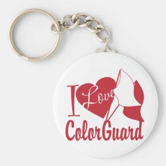 I Love ColorGuard Keychain