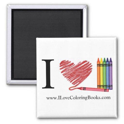 I Love Coloring Magnet