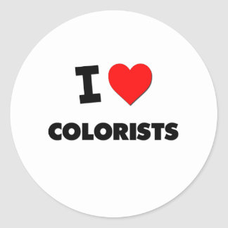 I Love Colorists Classic Round Sticker