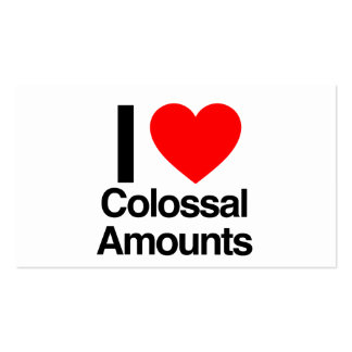 i love colossal amounts business card template