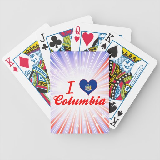 I Love Columbia, New York Bicycle Playing Cards