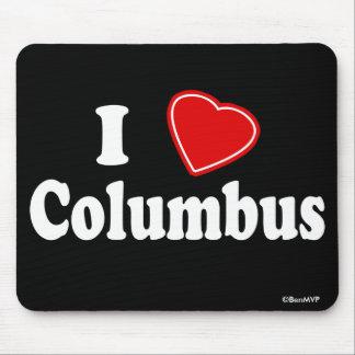 I Love Columbus Mouse Pad