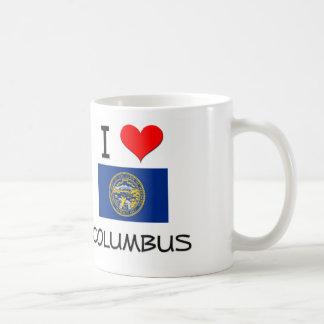 I Love Columbus Nebraska Classic White Coffee Mug