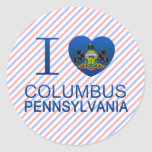 I Love Columbus, PA Classic Round Sticker
