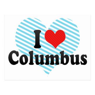 I Love Columbus Postcard