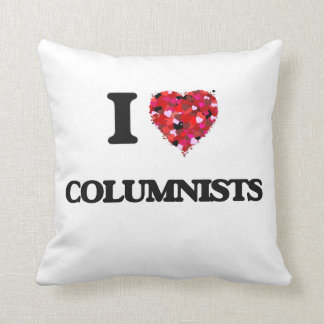 I love Columnists Throw Pillows