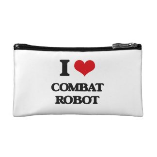 I Love Combat Robot Cosmetic Bags