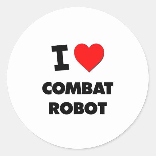 I Love Combat Robot Classic Round Sticker