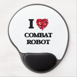 I Love Combat Robot Gel Mouse Pad
