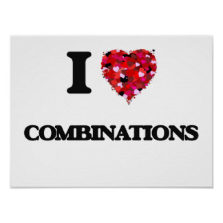 I love Combinations Poster