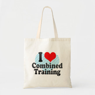 I love Combined Training Budget Tote Bag