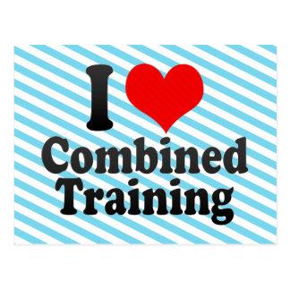 I love Combined Training Postcard