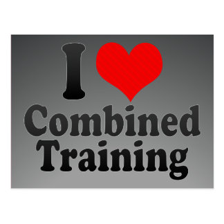 I love Combined Training Postcard