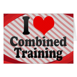 I love Combined Training Stationery Note Card