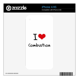 I love Combustion Skin For iPhone 4