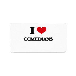 I love Comedians Address Label