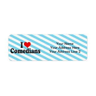 I Love Comedians Return Address Label