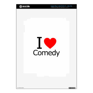 I Love Comedy Decal For iPad 3
