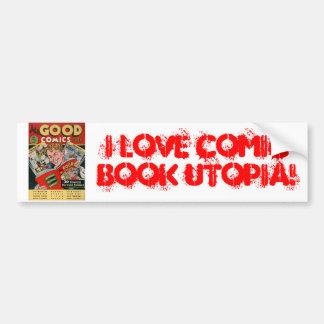 I Love Comic Book Utopia AGC Bumper Sticker Car Bumper Sticker