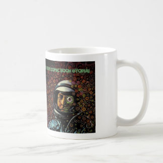 I Love Comic Book Utopia Retro One white mug