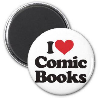 I Love Comic Books Magnet