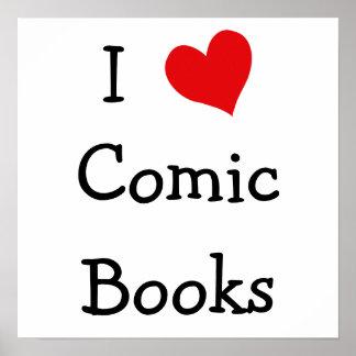 I Love Comic Books Poster