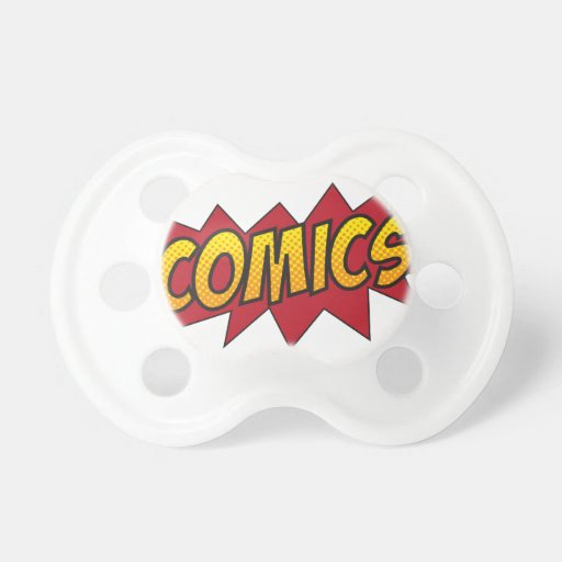 I love comics! BooginHead pacifier