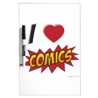 I love comics! dry erase whiteboards