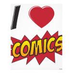 I love comics! letterhead template
