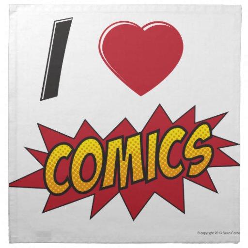 I love comics! napkin