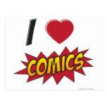 I love comics! post card
