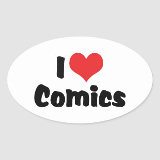 I Love Comics Stickers