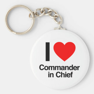 i love commander in chief keychain