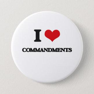 I love Commandments Pinback Button