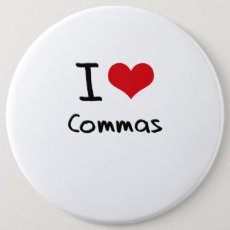 I love Commas Button